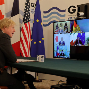 Boris Johnson hosts the Meeting of the G7 Leaders
