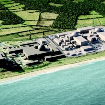 Aerial image of Sizewell nuclear plant in the UK